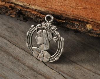 Egyptian pendant sterling silver pharaoh pendant silver jewelry 925 silver Egyptian jewelry - 853