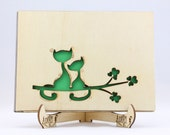 Cats Wedding Wooden Guest...