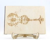 Violin Wooden Guest Book,...
