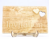 Rustic Wooden Wedding Inv...