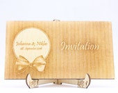 Laser-Cut Invitation, Eng...