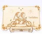 Bycicle Wedding Invitatio...