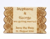 Wooden Save the Date Magn...