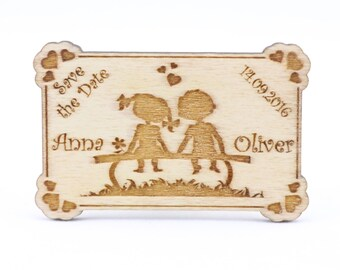 wooden save the date magnet wedding custom laser cut save the etsy