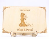 Wooden Wedding Invitation...