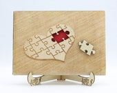Puzzle Heart Wedding Gues...