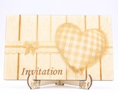 Vintage Heart Wedding Inv...
