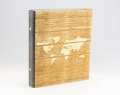 World Map Ring Binder, A5...