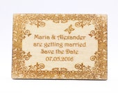 Wood Save the Date Magnet...