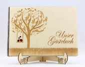 Wooden Guest Book, Weddin...