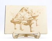 Piano Music Love Wooden G...