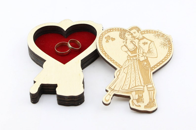 Wedding Rings Box Ring Bearer Box Engagement Ring Box image 0
