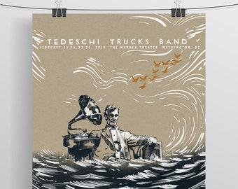 Tedeschi Trucks Band CoraopolisPittsburgh 2020 Show Poster Screenprint