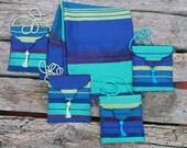 Handwoven Shawl Optional Evening Bag Blue Green Aubergine Gold Pashmina Scarf Wrap Evening Bag Purse Sabra Silk Boho Stripes Bohemian