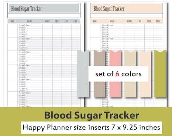 blood sugar tracker etsy