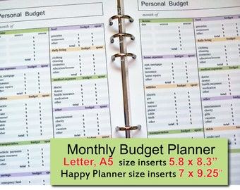 happy planner budget etsy