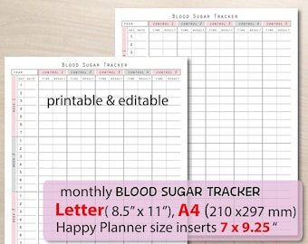 photo about Printable Migraine Diary Worksheets titled Every month log Etsy