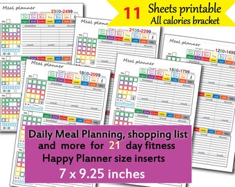 picture regarding 21 Day Fix Meal Planner Printable referred to as 21 working day mend printables Etsy