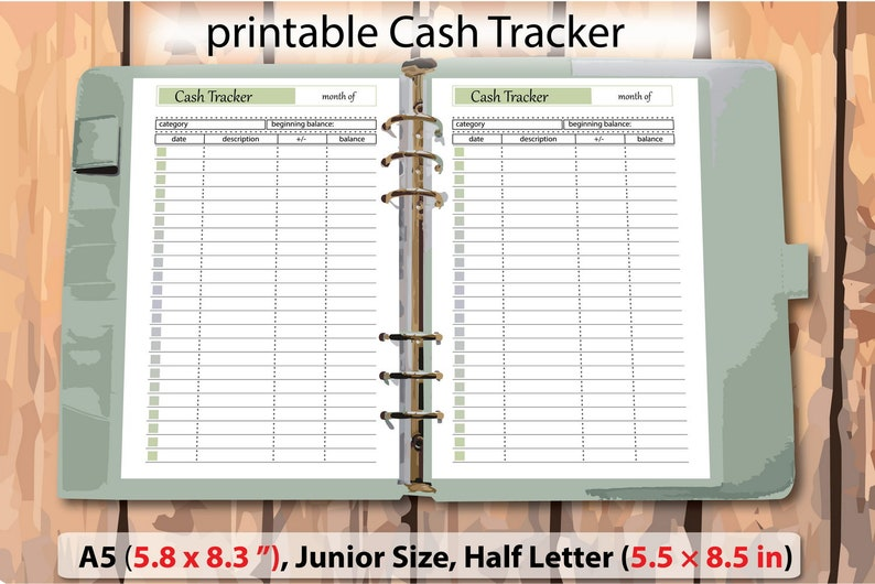 image regarding Money Tracker Printable called a5 planner web pages, income printable observe, funds tracker, dollars tracker, printable dollars template, Junior Dimensions 5.5\