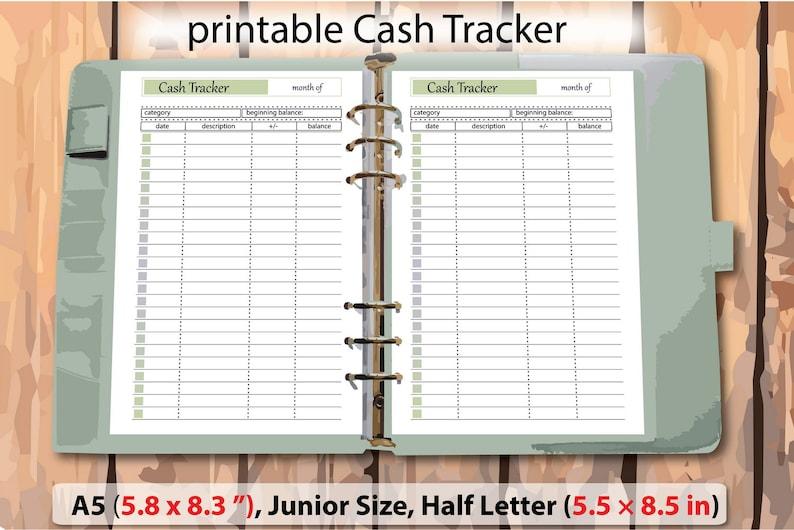 photo regarding Money Tracker Printable named a5 planner internet pages, revenue printable monitor, cash tracker, income tracker, printable funds template, Junior Dimensions 5.5\