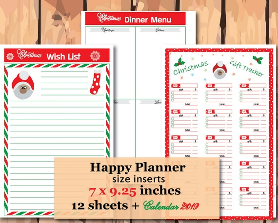 Christmas Planner 2020 Happy planner inserts Christmas Wish | Etsy