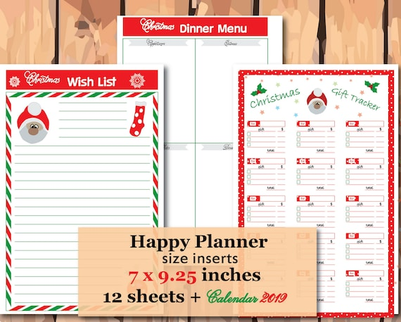 Christmas List 2020.Christmas Planner 2020 Happy Planner Inserts Christmas Wish List Holiday Planner Printable Christmas Planner Kit Instant Download
