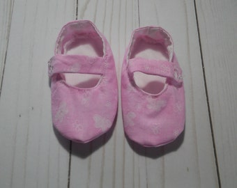 Pink and White Butterfly Mary Jane Shoes