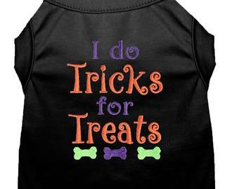 Dog Halloween Costume - Dog Halloween Shirt - I Do Tricks for Treats - Custom Dog Shirt - Dog Costume - Pet Costume - Dog Halloween - Dog