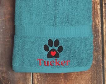 Dog Bath Towel - Personalized Dog Towel - Dog Towel - Custom Pet Towel - Dog Gift - Embroidered Towel - Dog Towel with Name - Custom Dog