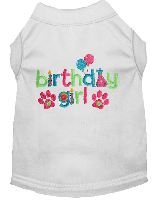 Birthday Girl Dog Shirt Custom