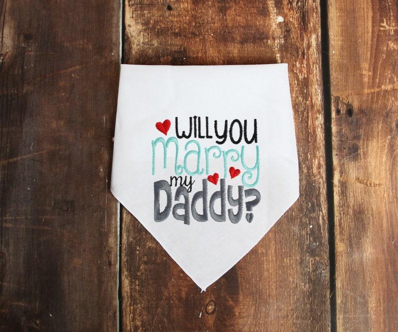 Will You Marry My Daddy Dog Bandana Marriage Proposal Idea for Dog Wedding  Engagement Dog Proposal Bandana Pet Engagement
