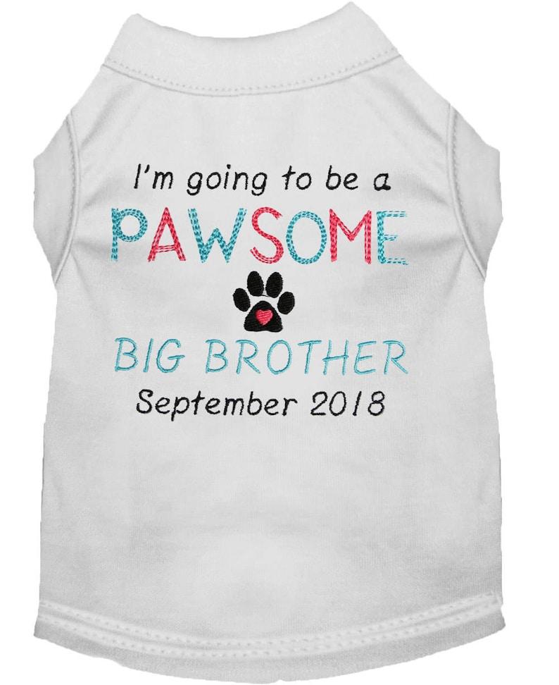 Fabulous Zwangerschap aankondiging grote broer hond Shirt   Etsy &JQ02