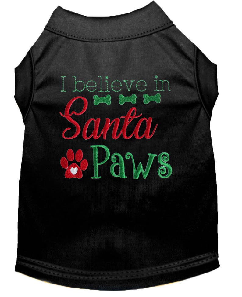 fe2f2fcf99af Dog Christmas Clothes I Believe in Santa Paws Dog | Etsy