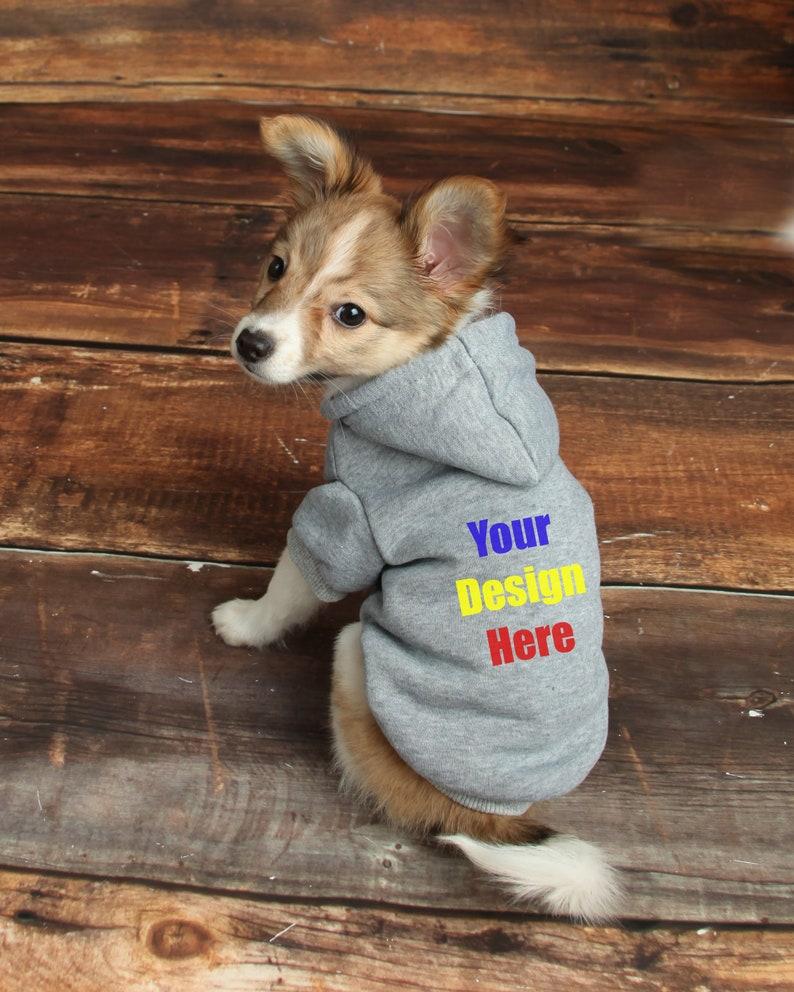 Custom Dog Hoodie Puppy Clothing Personalized Pet Hoodie ...