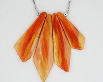 Rare Flame Box Elder Wood Pendant