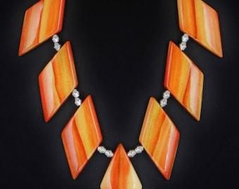 Rare Flame Box Elder Wood Necklace