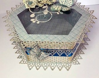 Touch of romance Hexagon Box with aperture  SVG / SCUT4  and FCM Scan n Cut cutting file