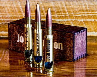 boyfriend gift gift for dad husband gift fathers day gift cool gift for guys engraved bottle opener 50 caliber bullet soldier