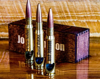 Boyfriend Gift,  Gift for Dad, Husband Gift,  Father's Day Gift,  Cool Gift For Guys, Engraved Bottle Opener,  50 Caliber Bullet, Soldier-