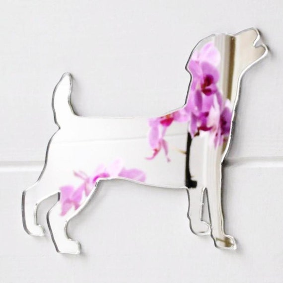 Jack Russell Terrier Dog Mini Craft Sized Acrylic Mirrors 10Pk