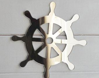 Nautical Ships Wheel Acrylic Mirror