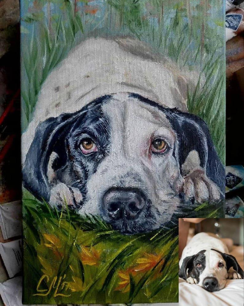 Pet Portraits Art & Collectibles CUSTOM DOG PORTRAIT custom dog ...