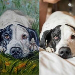 Custom character commission digital Pet portrait Dog costume Space art canvas print custom