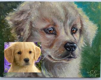 Custom Pet portrait custom painting dog lover gift art Commission painting Pet art Impressionist oil painting custom dog portrait from photo