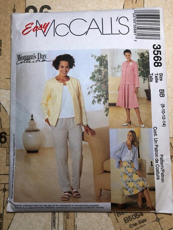 UNCUT Women s Sewing Pattern Size 8 10 12 14 Mccalls 3568  e699b34f7