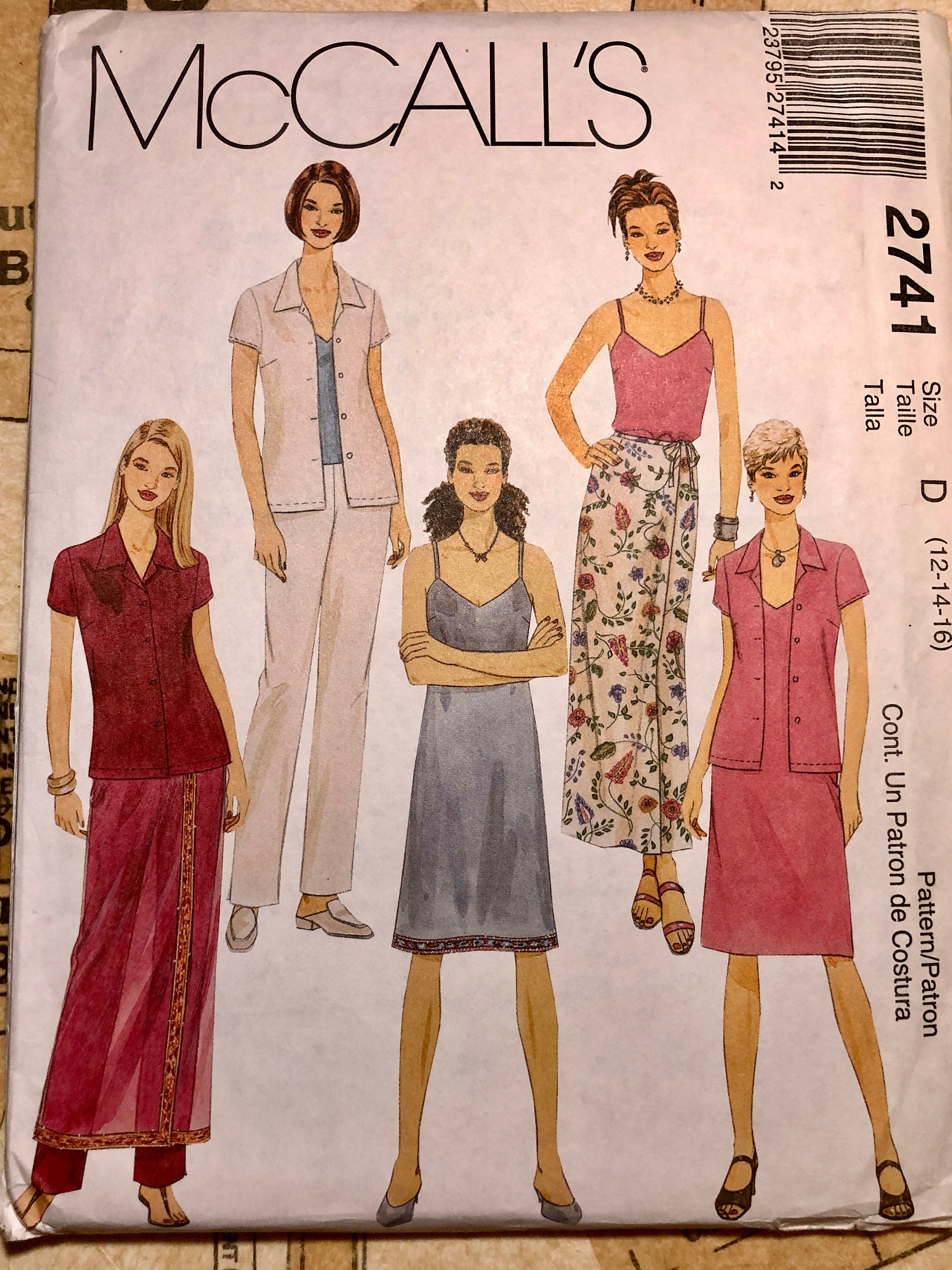 7035840a5b UNCUT Women's Sewing Pattern Summer Outfits Size 12 14 16 | Etsy