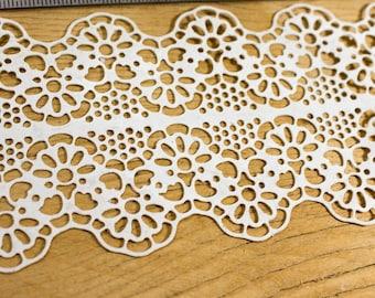 Flexible lace appliques shabby chic vintage decor decoration decoupage decor scrapbooking embellishments paintable