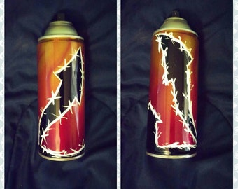 Kustom painted candy airbrush spray can Arrows