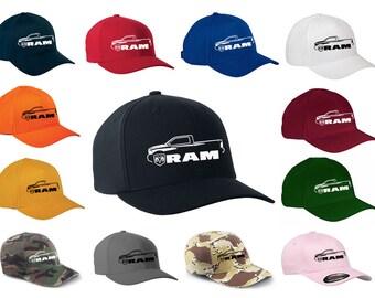 b010b7726f0 2010-17 Dodge Ram Pickup Truck Classic Outline Design Hat Cap
