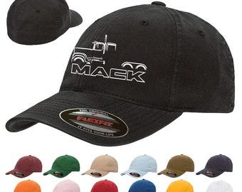 4fac8e8871c71 Mack Superliner Semi Truck Classic Outline Design Hat Cap